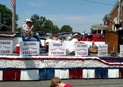 Our Float during Faith 4th!